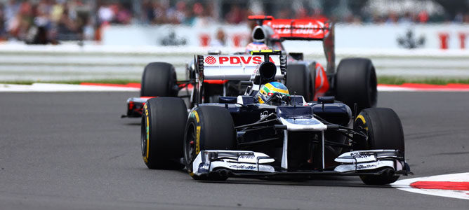 Un Williams sobre el asfalto de Silverstone