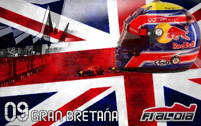 Cartel anunciador del GP de Gran Bretaña de F1