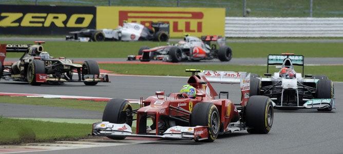 Felipe Massa en el circuito de Silverstone