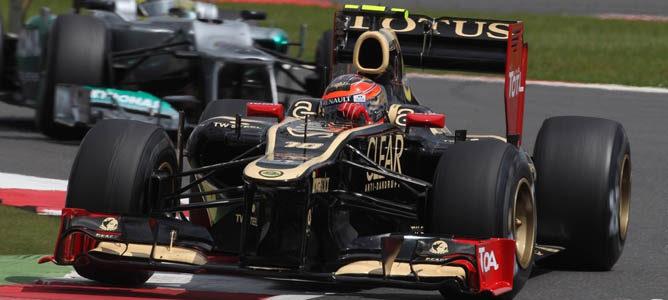 Romain Grosjean en el circuito de Silverstone