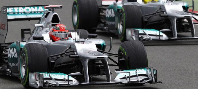 Michael Schumacher en el circuito de Silverstone