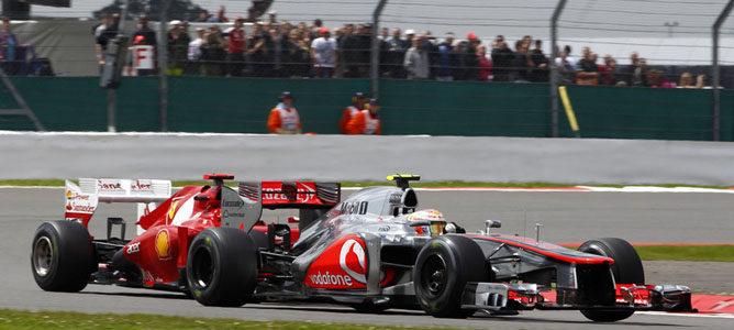 Lewis Hamilton en el circuito de Silverstone