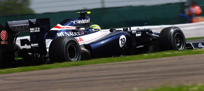Bruno Senna en el circuito de Silverstone