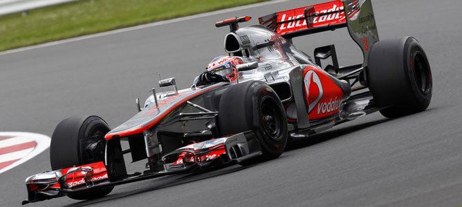 Jenson Button en el circuito de Silverstone