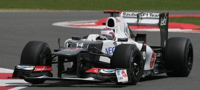 Kamui Kobayashi en el circuito de Silverstone