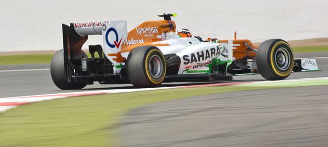 Nico Hulkenberg en el circuito de Silverstone