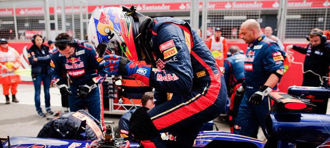 Daniel Ricciardo en el circuito de Silverstone