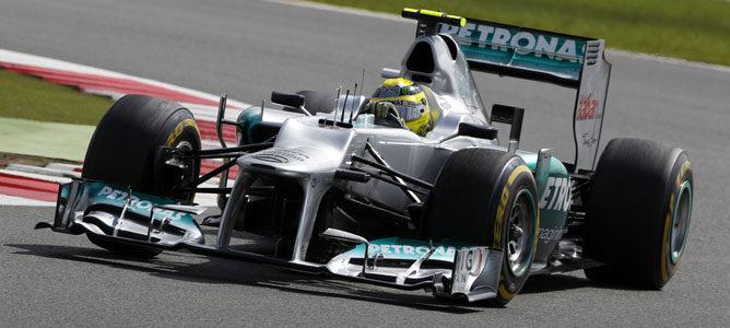 Nico Rosberg en el circuito de Silverstone