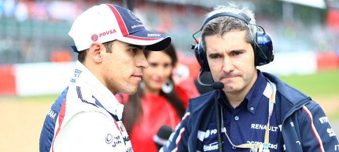 Pastor Maldonado en el circuito de Silverstone