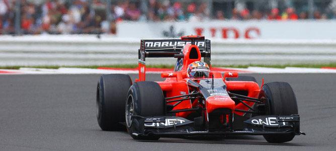 Timo Glock en el circuito de Silverstone
