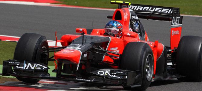 Charles Pic en el circuito de Silverstone