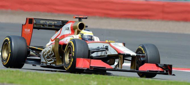 Pedro de la Rosa en el circuito de Silverstone
