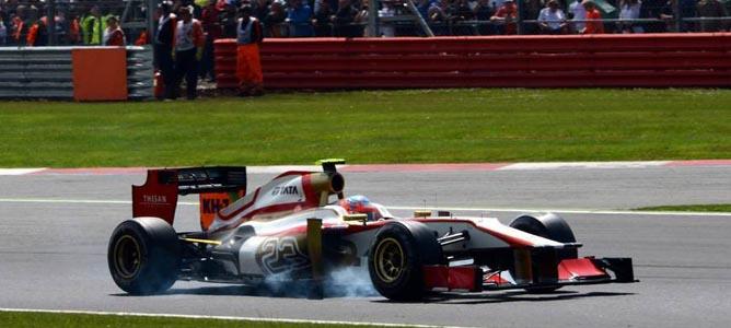Narain Karthikeyan en el circuito de Silverstone
