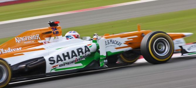 Paul di Resta en el circuito de Silverstone