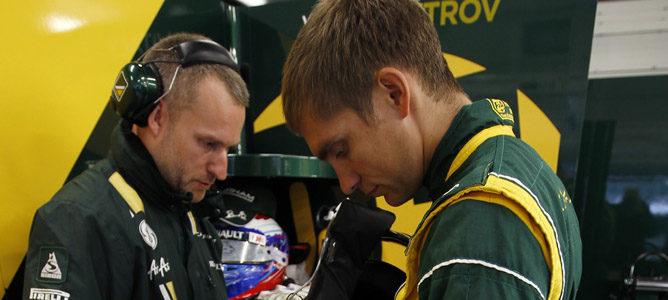 Vitaly Petrov en el circuito de Silverstone