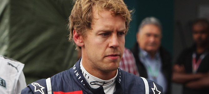 Sebastian Vettel enfadado