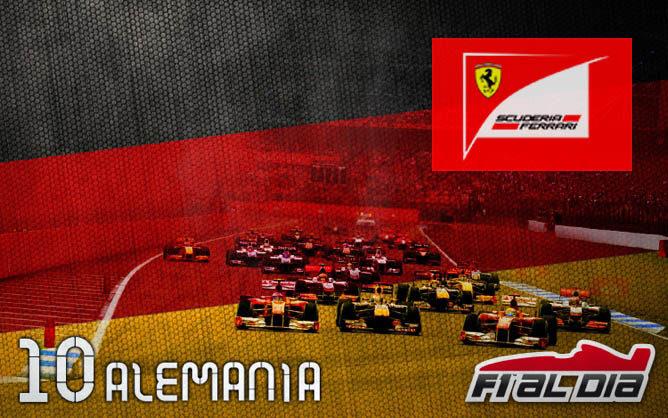 Cartel anunciador del GP de Alemania de F1