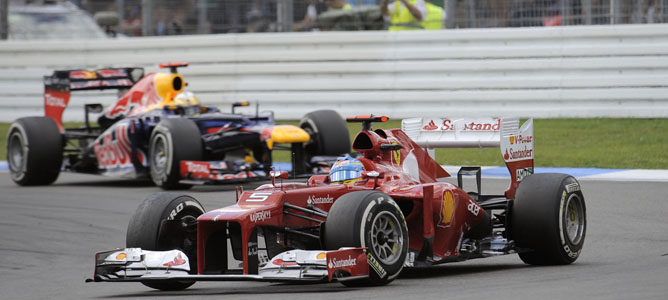 Un Ferrari en el circuito de Hockenheim