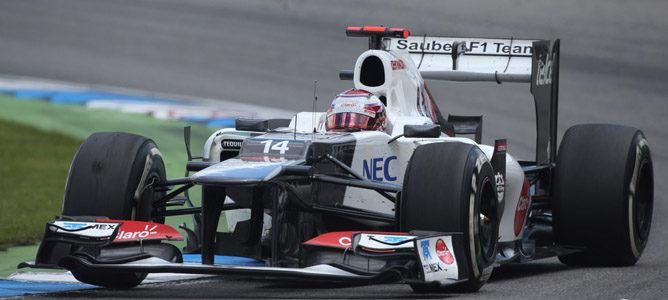 Un Sauber en el circuito de Hockenheim