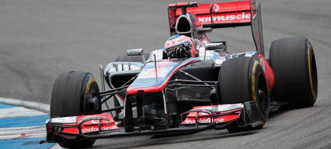 Un McLaren en el circuito de Hockenheim