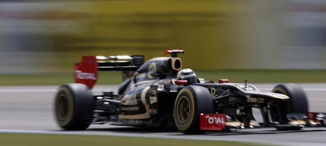 Un Lotus en el circuito de Hockenheim