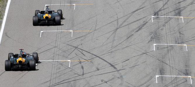 Los Caterham en el circuito de Hockenheim