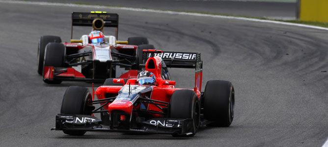 Un Marussia en el circuito de Hockenheim