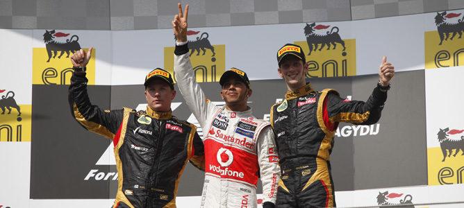 Podio del Gran Premio de Hungría 2012