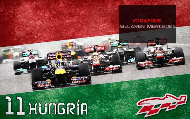 Cartel anunciador del GP de Hungría de F1