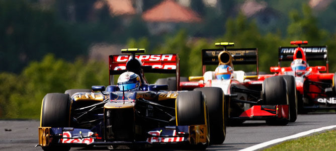 Un Toro Rosso sobre el asfalto de Hungaroring