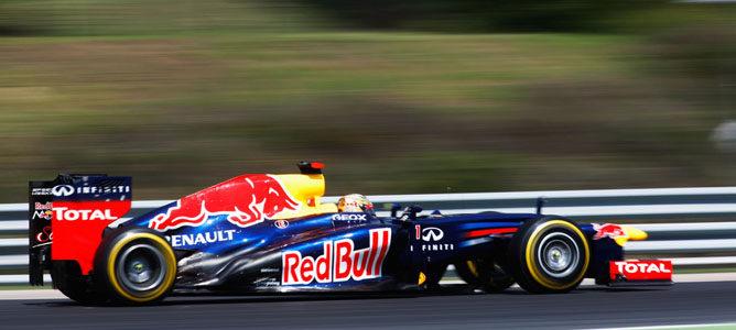 Sebastian Vettel en la pista de Hungaroring