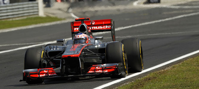 Jenson Button en la pista de Hungaroring