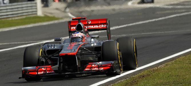 Jenson Button en la pista de Hungaroring