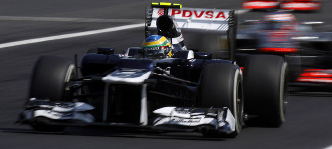 Bruno Senna en la pista de Hungaroring
