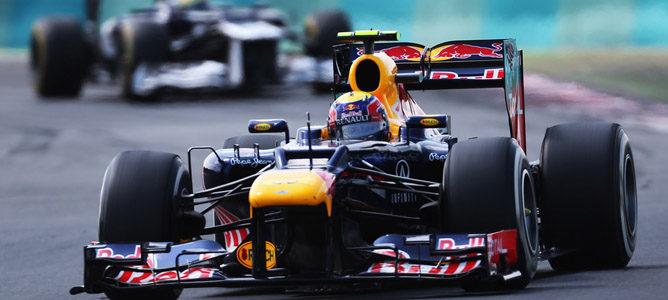 Mark Webber en la pista de Hungaroring