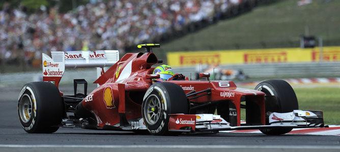 Felipe Massa en la pista de Hungaroring