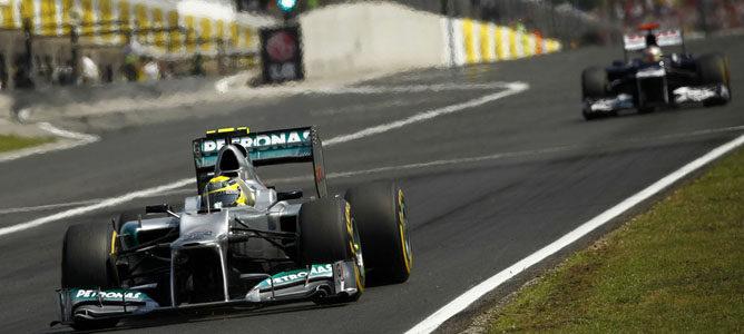 Nico Rosberg en la pista de Hungaroring