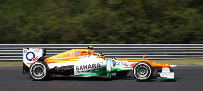 Nico Hulkenberg en la pista de Hungaroring