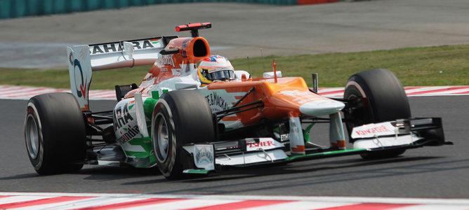 Paul di Resta en la pista de Hungaroring