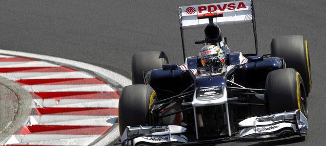 Pastor Maldonado en la pista de Hungaroring