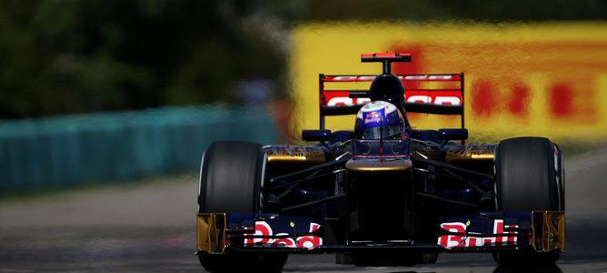 Daniel Ricciardo en la pista de Hungaroring