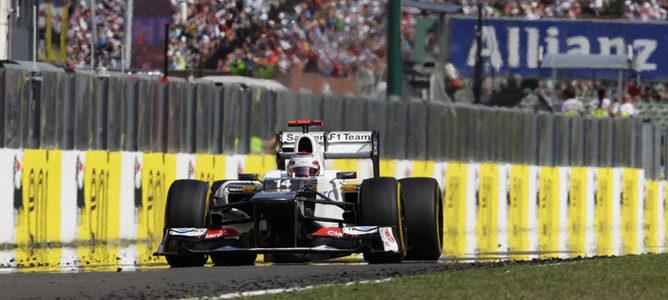 Kamui Kobayashi en la pista de Hungaroring
