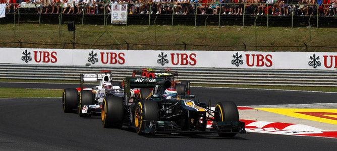 Vitaly Petrov en la pista de Hungaroring