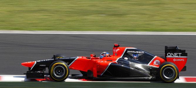Timo Glock en la pista de Hungaroring