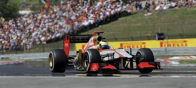 Pedro de la Rosa en la pista de Hungaroring