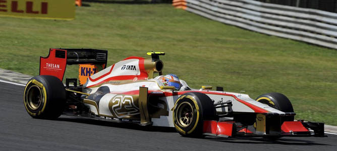 Narain Karthikeyan en la pista de Hungaroring