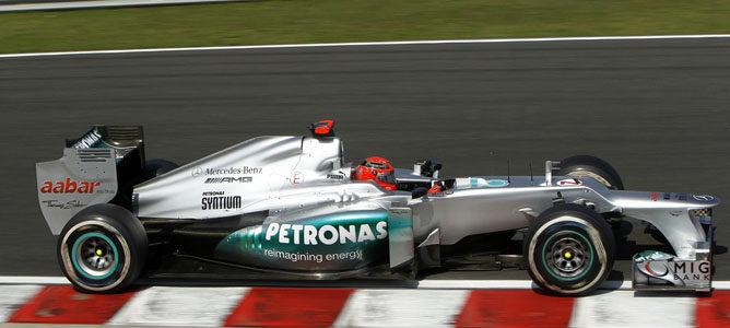Michael Schumacher en la pista de Hungaroring