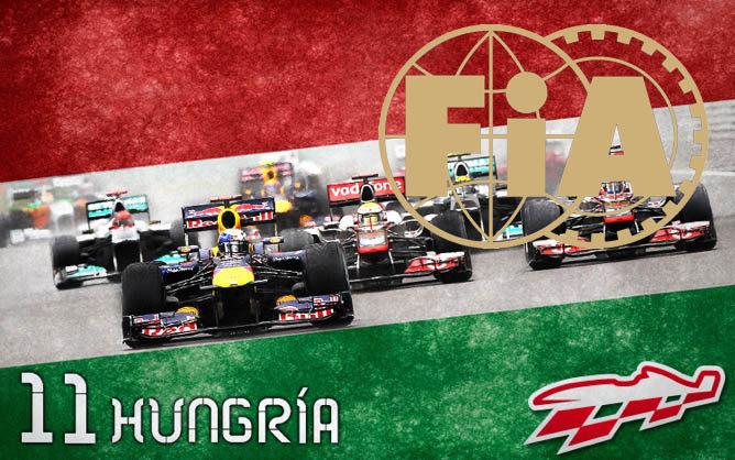 Cartel anunciador del GP de Hungría