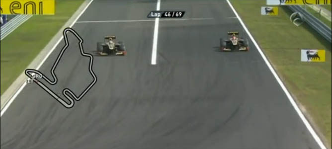 Adelantamiento de Räikkönen a Grosjean