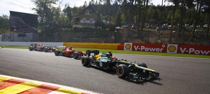 Heikki Kovalainen durante el Gran Premio de Bélgica